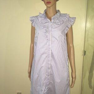 Banana republic cut out tops striped vintage dress
